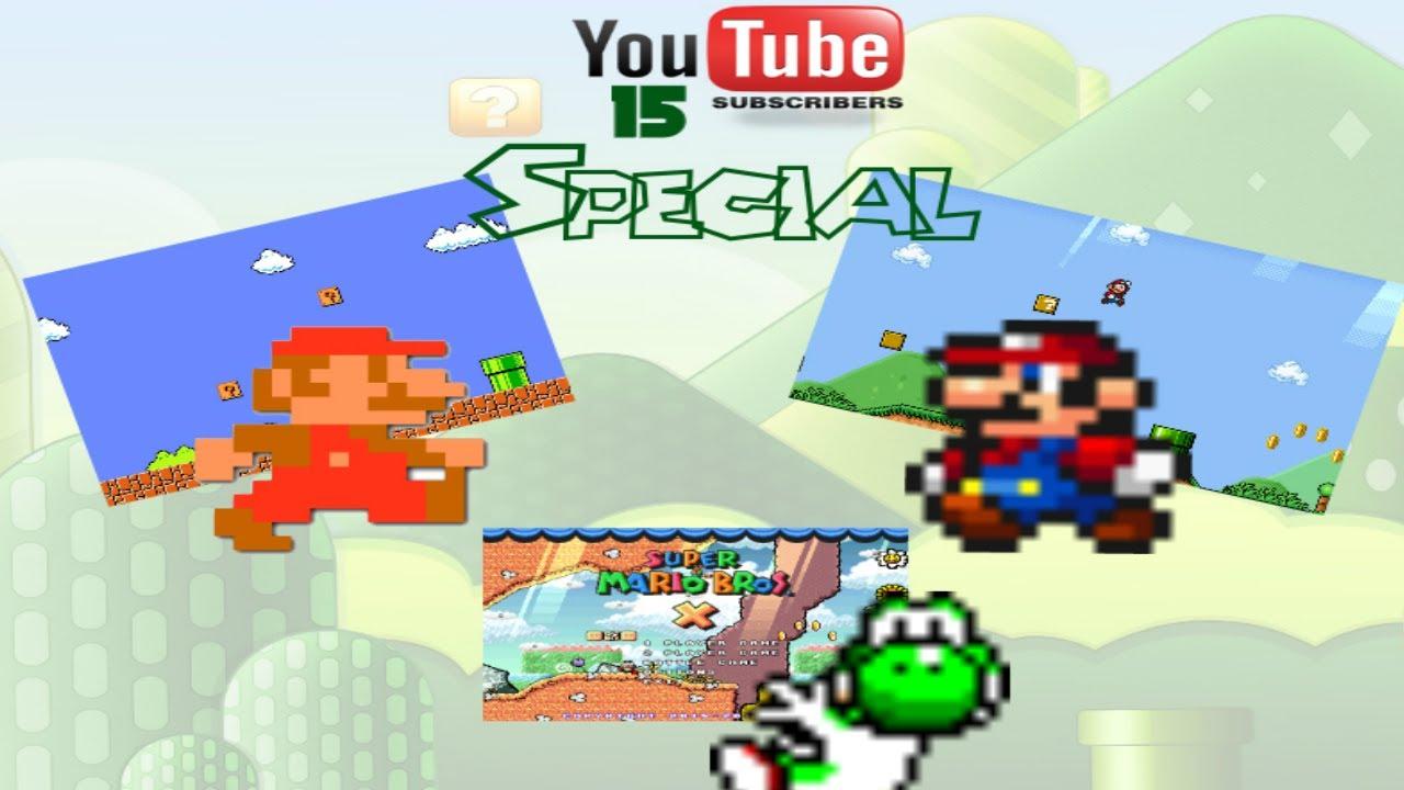 15 Subs Special! | Super Mario Bros 1-1 Remake + Custom Yoshi's Island  Intro! | SMBX 1 4 4