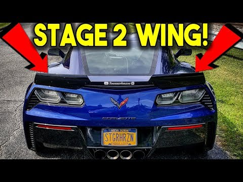 How To Install Stage 2 Wicker Bill On C7 Corvette Z06 Step By Step Bigger Wing Youtube