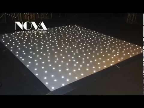 Acrylic Platform RGB Starlit LED Stage Laminate Dance Floor ...
