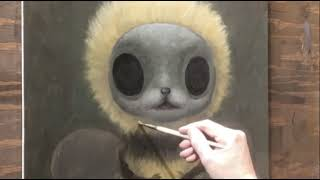Bee painting time lapse Mark Ryden