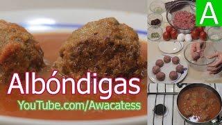 Como Hacer La Receta De Albondigas En Chipotle, Albondigas De Carne De Res En Salsa De Tomate