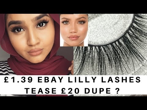 ef3de9a7201 £1.39 EBay Mink 3D Lashes Lilly Lashes Tease Dupe Try On - YouTube