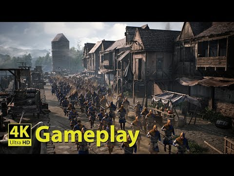 Ancestors Legacy 4K GAMEPLAY [Medieval Real Time Strategy Game]