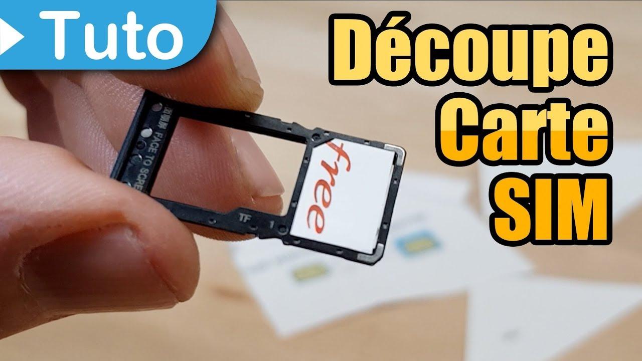 carte micro sim free TUTO] Découper une carte SIM (de Micro SIM à Nano SIM)   YouTube