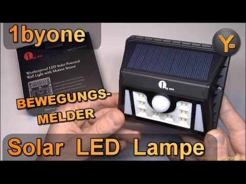 review 1byone outdoor solar led lampe mit bewegungsmelder wasserdicht superhelle leds youtube. Black Bedroom Furniture Sets. Home Design Ideas
