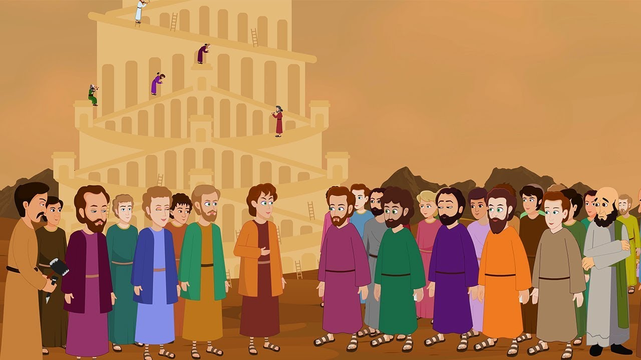 Download The Tower of Babel -  Tower Babylonia  Tales from the Bible