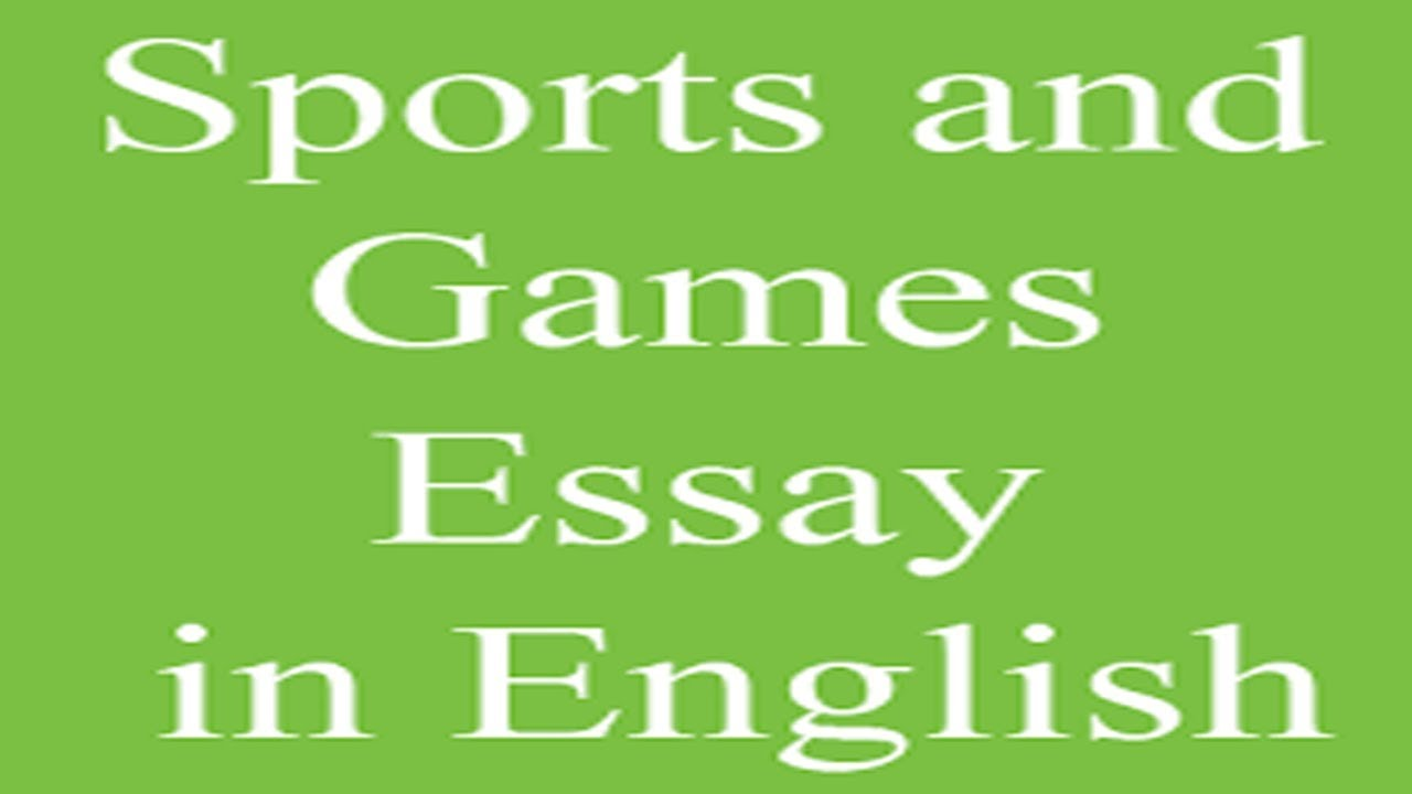 Essay on sports
