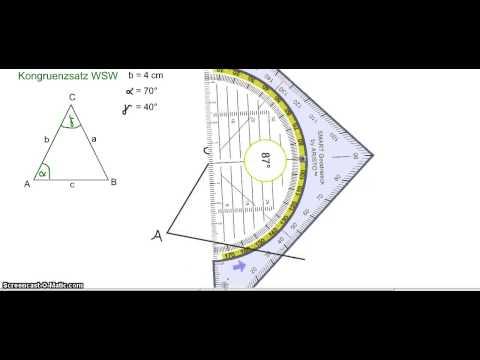 Dreiecke konstruieren - Kongruenzsatz WSW