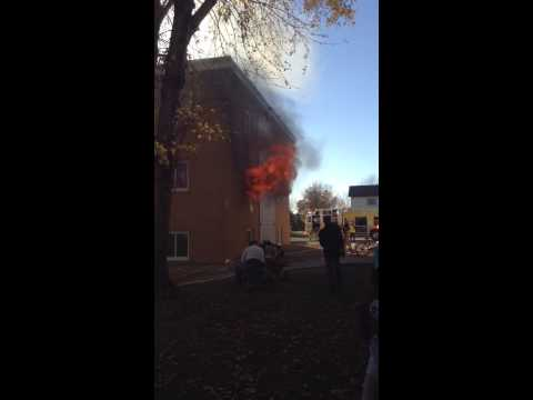 Big fire in Marshall MN Birch ST Sunrise Apartment