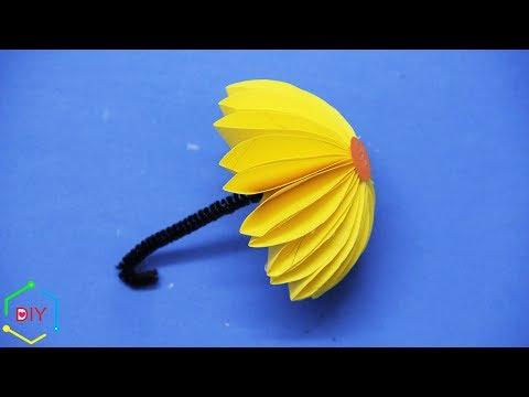 How to make paper umbrella/ Origami umbrella/ Paper umbrella craft