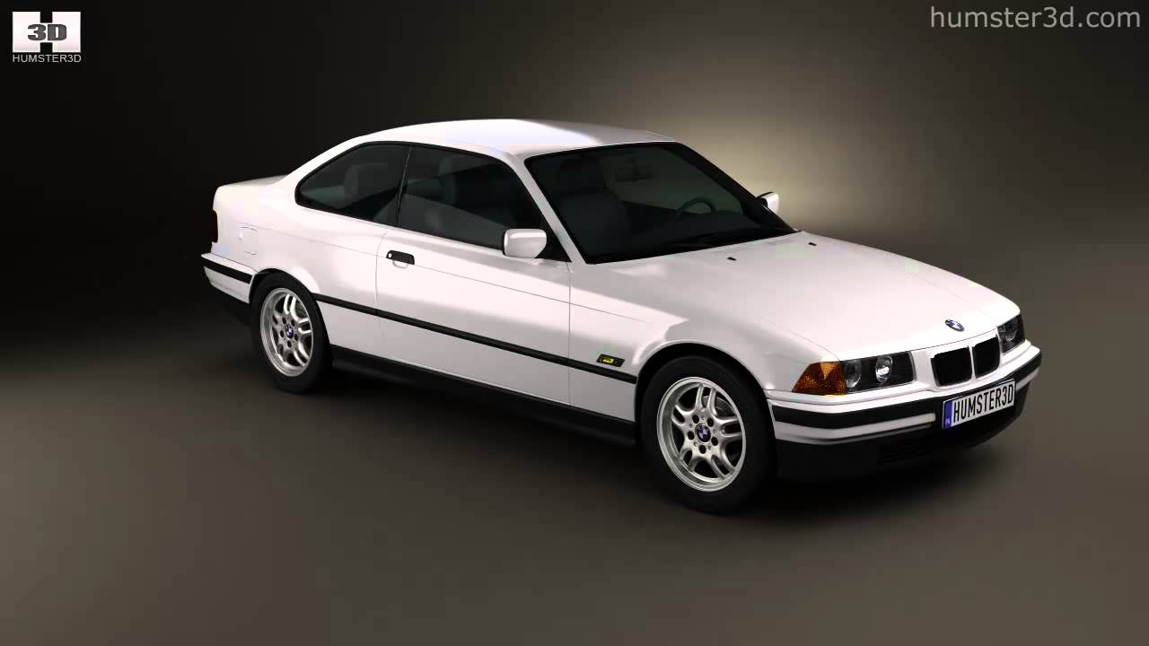 bmw 3 series e36 coupe 1994 by 3d model store youtube. Black Bedroom Furniture Sets. Home Design Ideas