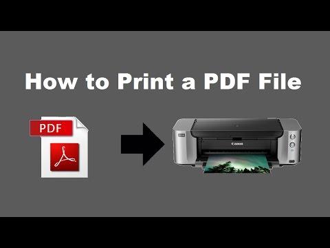 How To Print A PDF File