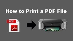 How to Print a PDF File