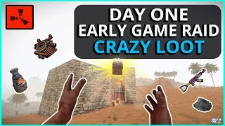 Making BANK From A DAY ONE RAID!! Rust Solo Survival Gameplay Part 1 (New Series)