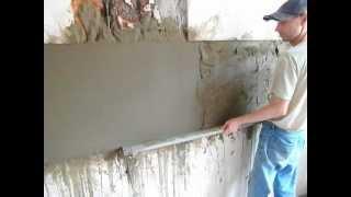 штукатурка  рабочего  фартука(Старая гипсовая штукатурка сделана также не по уровню и отсутствует плоскость . Заказчик отказался..., 2012-06-30T16:56:07.000Z)