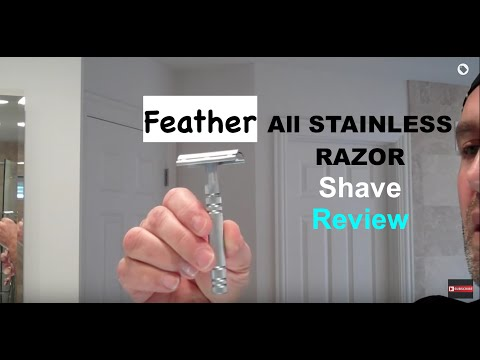 Feather All-Stainless Safety Razor Shave-Shop at ShaveNation.com
