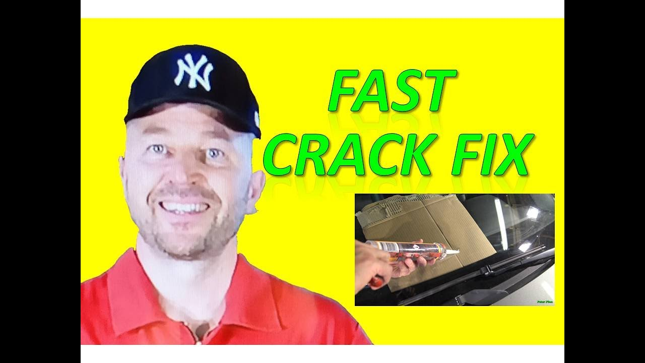How to repair Easy and Fast way windshield hole or crack in car