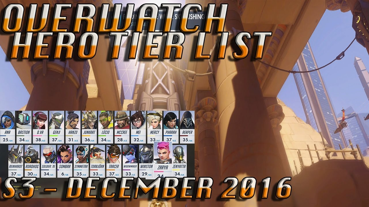 overwatch tier list season 3 december 2016 xbox one youtube