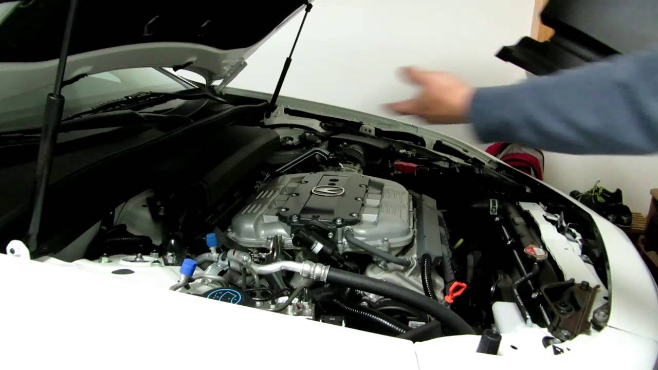 How To Remove And Install The Engine Bay Cover On Acura TL - 2005 acura tl engine