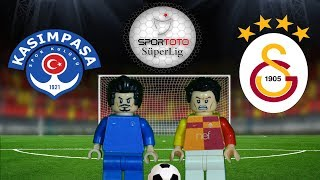 Kasımpaşa Galatasaray Maç Özeti 2-1 18.02.2018  (LEGO SÜPER LİG MAÇ ÖZETLERİ)/ Lego Football Goals