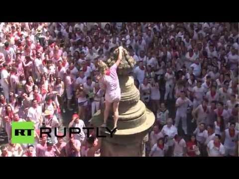 L'euphorie saisit Pampelune pour le début de la San Fermín