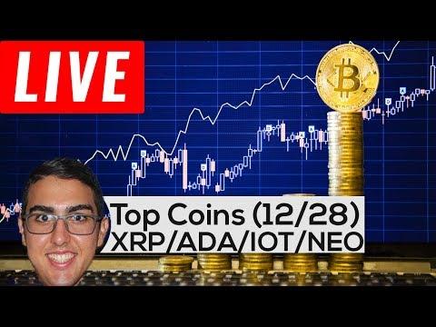 Top Coins: Ripple ($XRP), Cardano ($ADA), IOTA ($IOT), Stellar ($XLM), NEO ($NEO), Raiblocks ($XRB)!