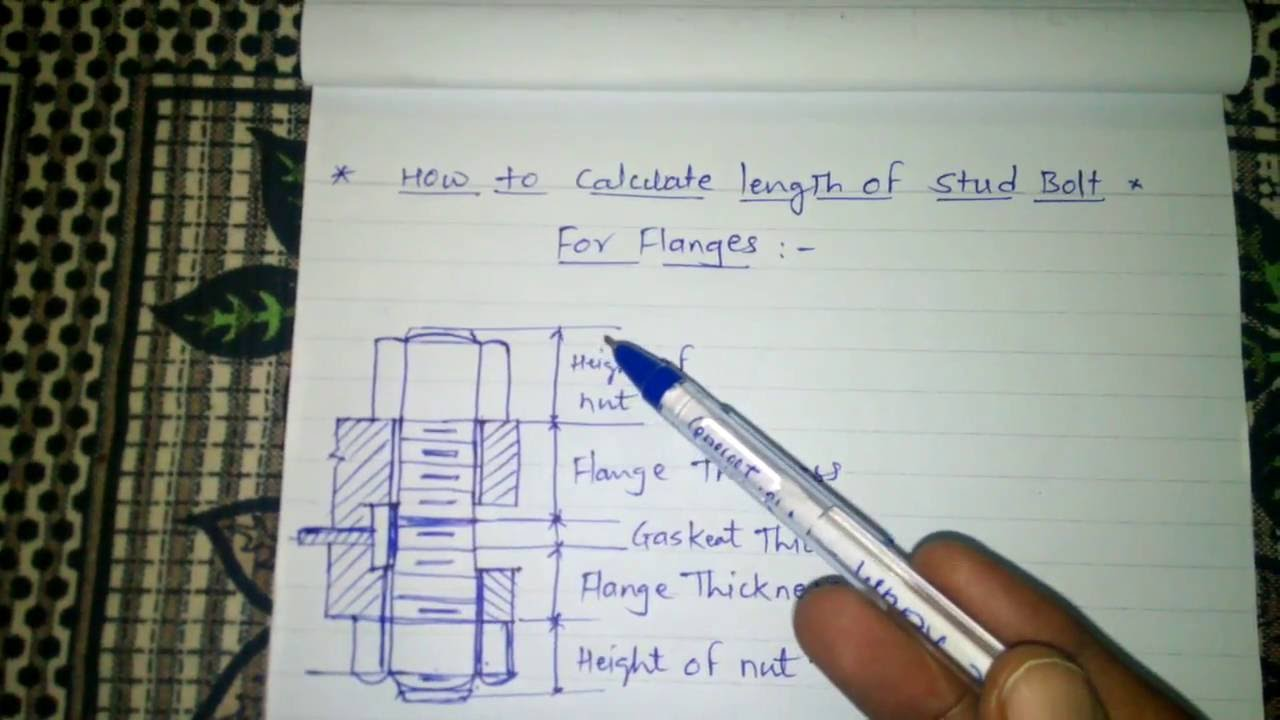 How To Calculate Bolt Length For Flanges Youtube