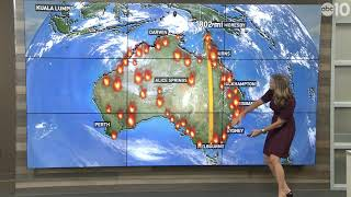 How the size of the Australian bushfires compare to California