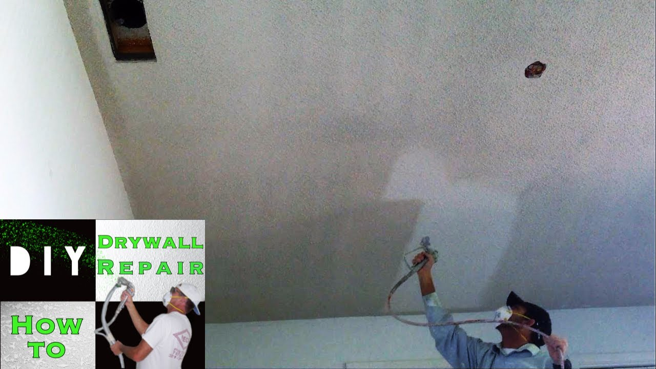 How To Remove Popcorn Ceiling Texture Fast And Easy Youtube