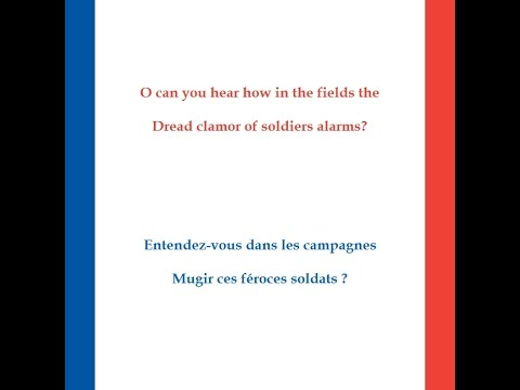 La Marseillaise sung in English, v 1 & chorus, voice only, text
