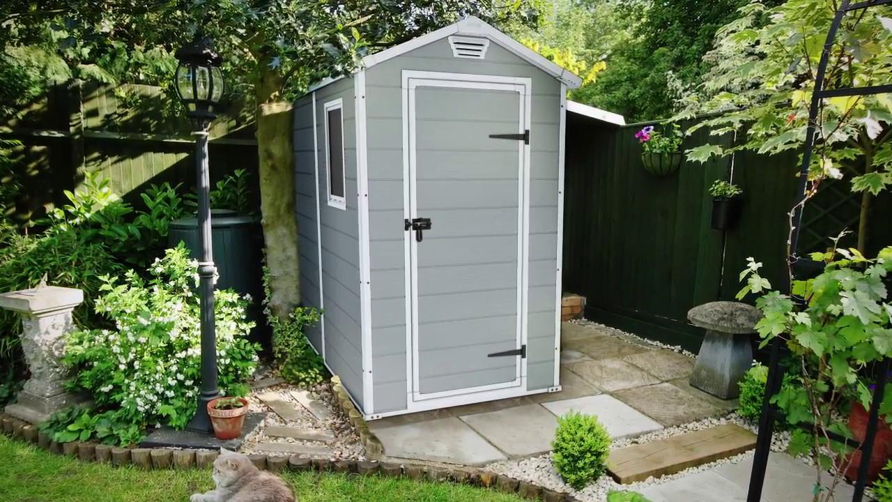 Keter Manor 4x6 Caseta de jardín - YouTube