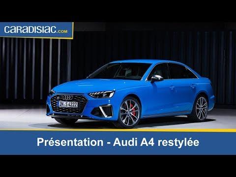 Présentation - Audi A4 restylée :  gros replâtrage
