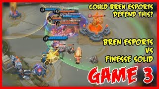 Could they Comeback? Defensive Bren Esports Against Finesse Solid MPL-PH Game3