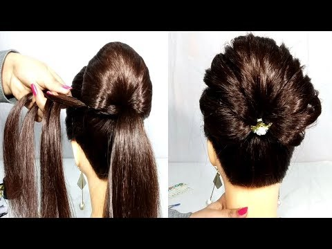 Braided bun Hairstyles for Wedding || Updo Hairstyles || Hairstyles for Girls || cute hairstyle