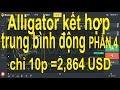 Binomo phần 4,chỉ 10phút kiếm 2864 USD chiến thuật Alligator, kết hợp trung bình động, rất hiệu quả