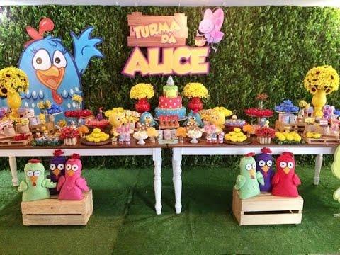 Fiesta de gallinita pintadita party 2017 mesa de dulces - Mesa dulce infantil ...