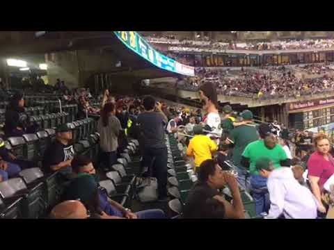 """Dennis Eckersley"" Visits The Oakland A's Fans At Rangers Game"