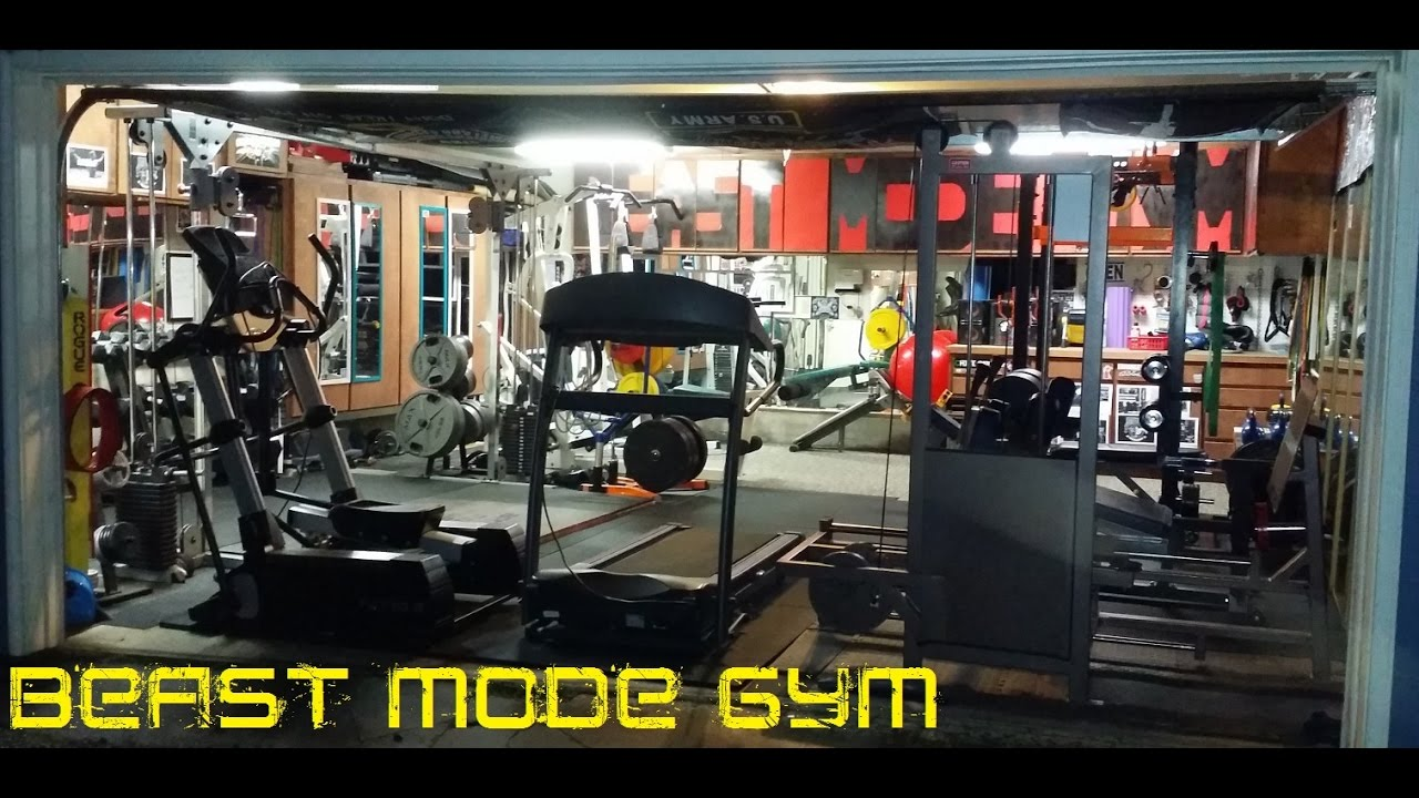 Garage gym tour aka beast mode youtube