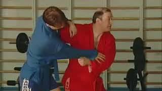Уроки самбо Гончаров 16   Зацеп ногой снаружи