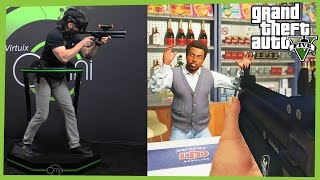 Grand Theft Auto V virtual reality gameplay: Oculus Rift and Virtuix Omni (Next Generation Gaming)
