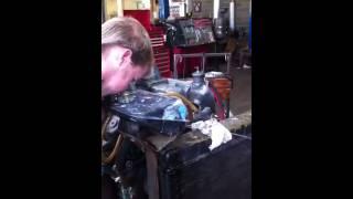 Council worker bleeds radiator on cummins