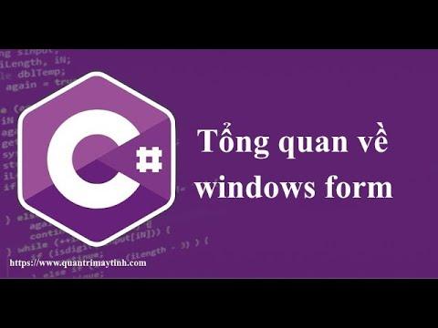 Tổng quan về lập trình C# windows form