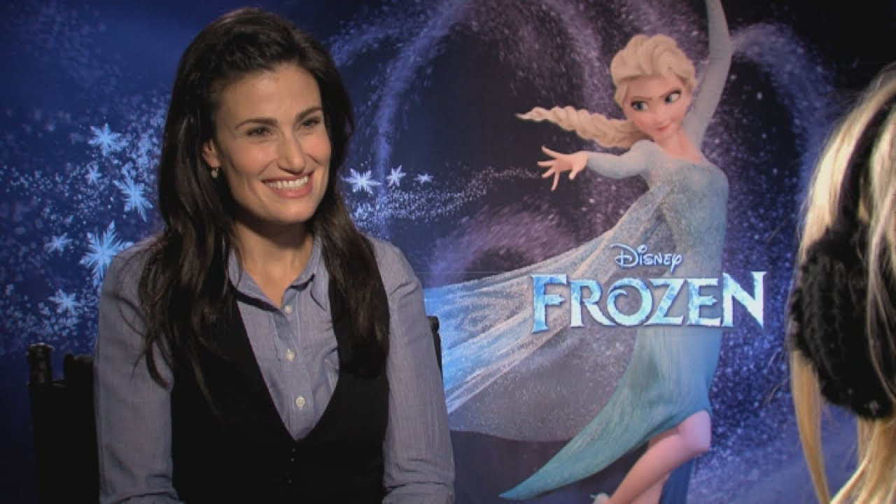Idina Menzel talks about husband Taye Diggs in Disneys Frozen interview  YouTube