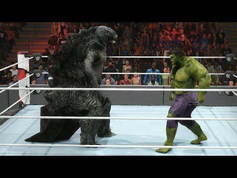 GODZILLA VS HULK - WWE 2K19 LAST MAN STANDING MATCH