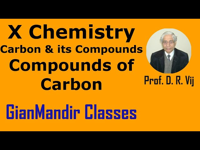 X Chemistry | Carbon and Its Compounds | Compounds of Carbon by Gaurav Sir