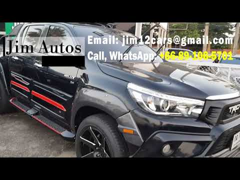 2016 Toyota Hilux Revo Double Cab black TRD kit For Sale Thailand Car Exporter