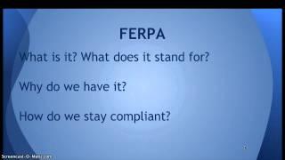 COPPA, FERPA, CIPA