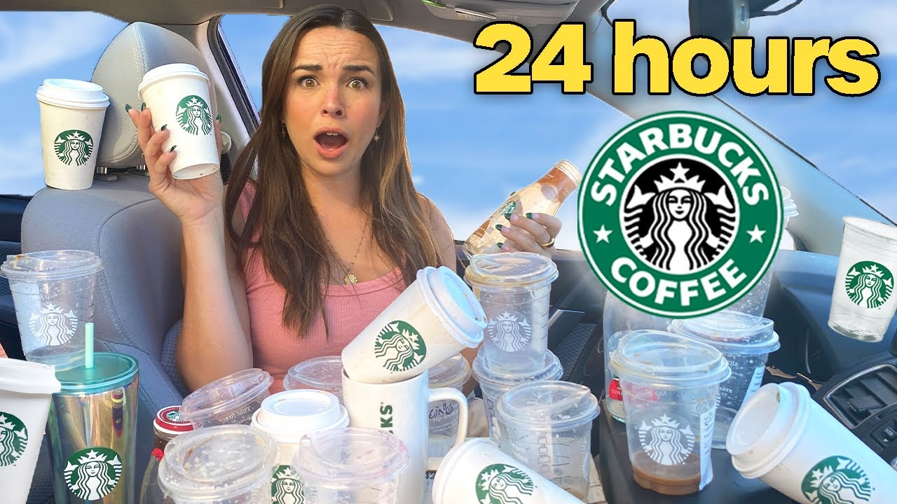 GETTING STARBUCKS EVERY HOUR FOR 24 HOURS - download from YouTube for free