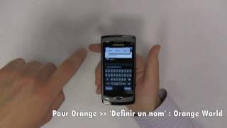Samsung Wave - Paramétrage de la 3G