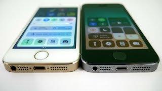 iPhone 5S iOS 10.3.2 vs iPhone 5S iOS 11!
